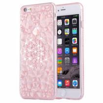 AppleKing ochranný zadní kryt s kamínky ve stylu diamantu pro iPhone 6/6S světle růžový