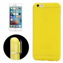 AppleKing ultra tenký plastový kryt pro iPhone 6/6S s ochranou zadní kamery žlutý