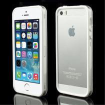 AppleKing pouzdro/kryt bumper pro Apple iPhone 5/5S/SE bílý/průhledný