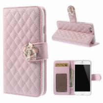 AppleKing pouzdro Camellia se sloty na karty pro Apple iPhone 6/6S růžové