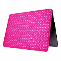 """AppleKing ochranný obal/kryt s koženým povrchem a třpytivým vzorem pro Macbook Air 13"""" tmavě růžový"""