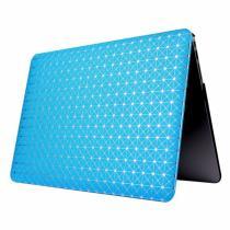 "AppleKing ochranný obal/kryt s koženým povrchem a třpytivým vzorem pro Macbook Air 13"" modrý"