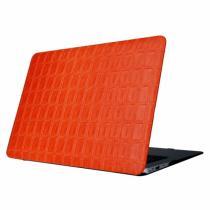 "AppleKing ochranný obal/kryt s koženým povrchem se vzorem mřížky pro Macbook Air 13"" oranžový"