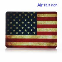 "AppleKing pogumovaný plastový obal/kryt pro Mackbook Air 13"" retro vlajka US"