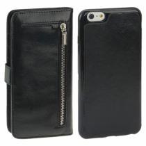 AppleKing 2v1 plastový kryt a odnímatelné kožené pouzdro s prostorem na doklady pro iPhone 6/6S