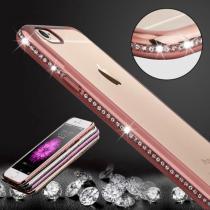 AppleKing luxusní průhledný ochranný kryt s kamínky ve stylu diamantu pro Apple iPhone 6 Plus/6S