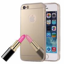 AppleKing zrcadlový ochranný kryt pro iPhone 5/5S/SE – zlatý