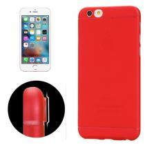 AppleKing tenký plastový kryt pro iPhone 6 Plus/6S Plus s ochranou čočky červený