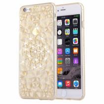 AppleKing ochranný zadní kryt s kamínky ve stylu diamantu pro iPhone 6/6S zlatý