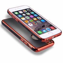 AppleKing obal na iPhone 6/6S s 360° ochranou a lesklými hranami chrání přední i zadní