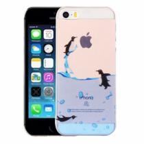 AppleKing kryt na iPhone 5/5S/SE výtvarné zpracování tučnáci