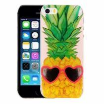 AppleKing kryt na iPhone 5/5S/SE výtvarné zpracování ananas