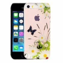 AppleKing kryt na iPhone 5/5S/SE výtvarné zpracování chryzantéma