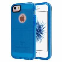 AppleKing poloprůhledný ochranný kryt na iPhone 5/5S/SE s tkanou texturou modrý