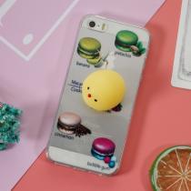 AppleKing gelový 3D kryt na iPhone 5/5S/SE makarony