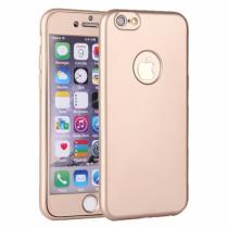 AppleKing plastový obal na iPhone 6/6S s 360° ochranou chrání přední i zadní stranu zlatý