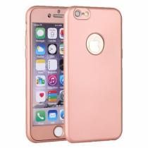 AppleKing plastový obal na iPhone 6/6S s 360° ochranou chrání přední i zadní stranu růžově