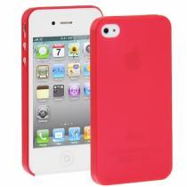 AppleKing ultra tenký (0.3mm) poloprůhledný matný kryt pro iPhone 4/4S červený