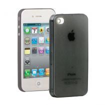 AppleKing ultra tenký (0.3mm) poloprůhledný matný kryt pro iPhone 4/4S černý