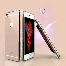 AppleKing luxusní kryt s třpytivými kamínky po obvodu pro iPhone 6/6S zlatý