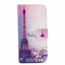 AppleKing peněženkové pouzdro se stojánkem a sloty na karty pro Apple iPhone 5/5S/SE Paříž a