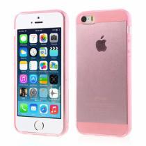 AppleKing průhledný obal pro Apple iPhone S5/5S/SE růžový