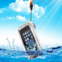 AppleKing super odolné vodotěsné IPX8 pouzdro pro Apple iPhone 5/5S/SE černé