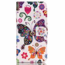 AppleKing peněženkové pouzdro s klipem pro Apple iPhone 6/6S Motýli a květiny