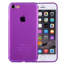 AppleKing ultratenký 0.5mm tmavý silikonový kryt pro Apple iPhone 8/7 fialový