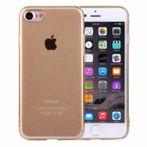 AppleKing ultratenký 0.5mm světlý silikonový kryt pro Apple iPhone 8/7 zlatý