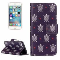 AppleKing otvírací/flip peněženkové pouzdro se stojánkem a sloty na karty pro Apple iPhone 8/7 Mořské