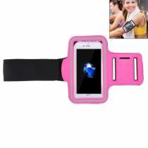 AppleKing sportovní pouzdro na ruku s kapsou na klíče pro Apple iPhone 8/7 růžové