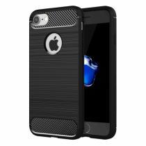 AppleKing odolný plastový kryt ve stylu broušeného karbonu pro iPhone 8/7 černý