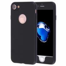 AppleKing plastový obal na iPhone 8/7 s 360° ochranou chrání přední i zadní stranu černý