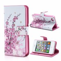 AppleKing magnetické pouzdro/kryt se stojánkem a sloty na karty pro Apple iPhone 4/4S růžové