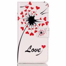 AppleKing peněženkové pouzdro s klipem pro Apple iPhone 6/6S Láska a květiny