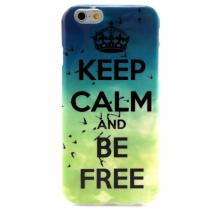 AppleKing lesklý kryt na Apple iPhone 6/6S Keep Calm and Be Free