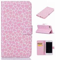 AppleKing pouzdro se stojánkem a sloty na karty pro Apple iPhone 8/7 růžové se srdíčky