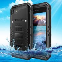 AppleKing voděodolný nárazuvzdorný a prachuvzdorný IP68 obal na iPhone 8/7 černý