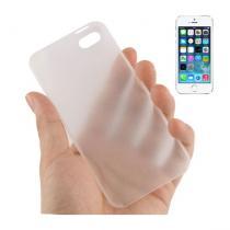 AppleKing ultra tenký (0.3mm) poloprůhledný matný kryt pro iPhone 5/5S/SE bílý