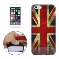 AppleKing gumový kryt pro Apple iPhone 6/6S retro vlajka UK