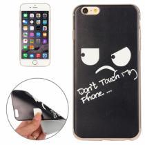 AppleKing ochranný plastový kryt pro Apple iPhone 6S/6 – Don't touch my phone