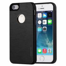 AppleKing mOTOMO kovový ochranný zadní kryt pro Apple iPhone 5/5S/SE – černý