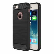 AppleKing robustní kryt na iPhone 5/5S/SE s broušenou texturou černý