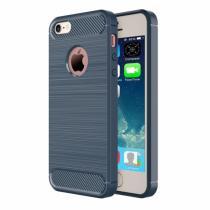AppleKing robustní kryt na iPhone 5/5S/SE s broušenou texturou modrý