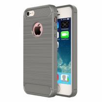 AppleKing robustní kryt na iPhone 5/5S/SE s broušenou texturou šedý