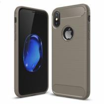 AppleKing odolný karbonový kryt na iPhone X šedý