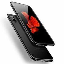 AppleKing cAFELE plastový kryt s ochrannou fotoaparátu pro iPhone X černý