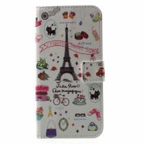 AppleKing pouzdro se stojánkem a přihrádkami na doklady pro Apple iPhone X sladká Paříž