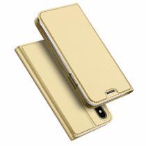 AppleKing dUX DUCIS Pouzdro se stojánkem a přihrádkami na doklady pro Apple iPhone X zlatá